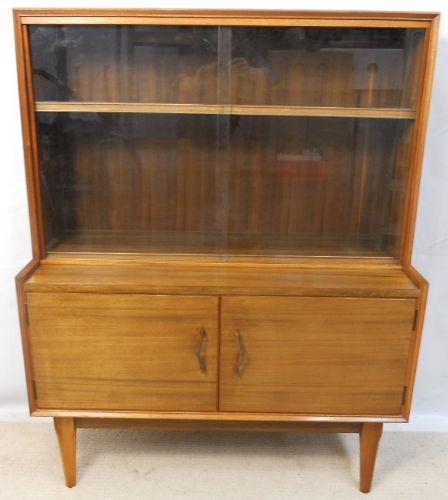 1960's Retro Light Teak Bookcase Cabinet - SOLD